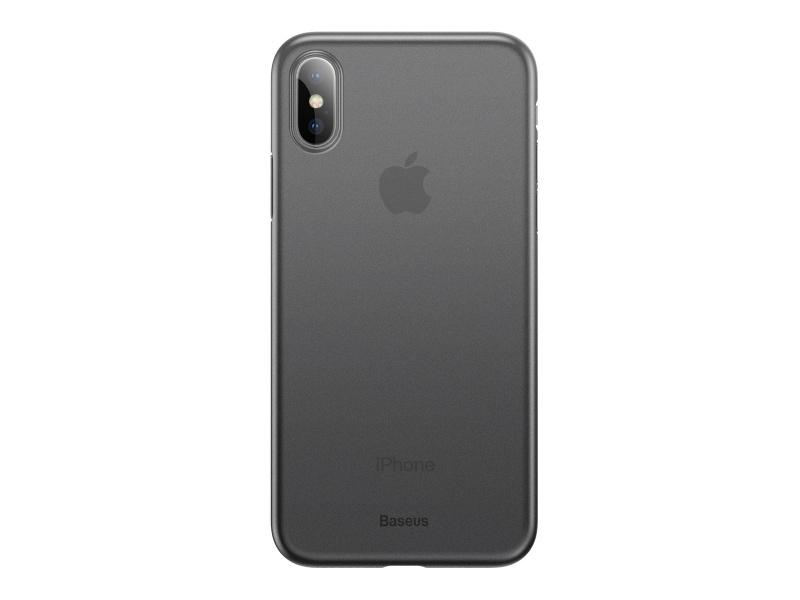 Baseus Wing silikonový kryt, pouzdro, obal Apple iPhone X / XS transparent grey