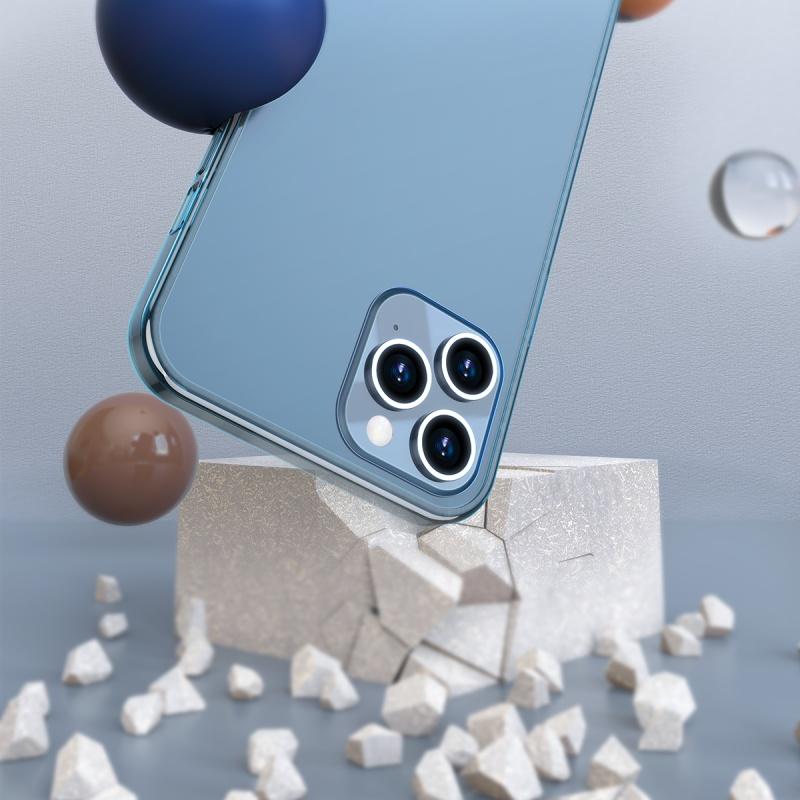 Ochranné pouzdro Baseus Frosted Glass Protective Case pro Apple iPhone 12 Mini, transparentní bílá