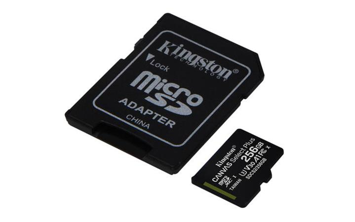Paměťová karta Kingston Micro 256GB Class 10 UHS-I s adaptérem SD2