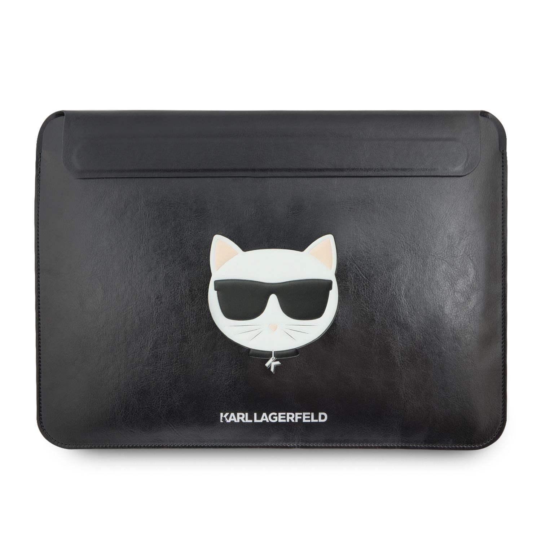 Karl Lagerfeld Choupette Sleeve kožené pouzdro KLCS133CHBK Apple MacBook Air/Pro