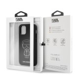 Karl Lagerfeld Embossed kryt KLHCP12SPCUIKWH Apple iPhone 12 mini white2 mini 5.4 White