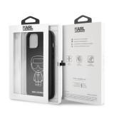 Karl Lagerfeld Embossed kryt KLHCP12LPCUIKWH Apple iPhone 12 Pro Max white