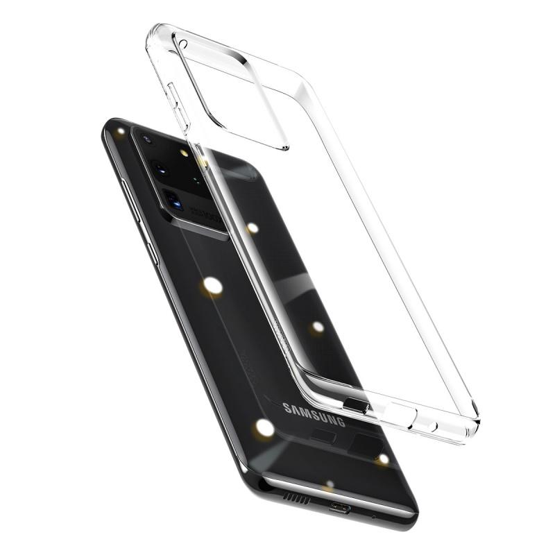 Silikonové pouzdro Baseus Simple Case pro Samsung Galaxy S20, transparentní