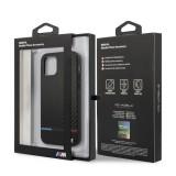 BMW Carbon Tricolor Line zadní kryt BMHCP12MPUCARTCBK Apple iPhone 12/12 Pro black