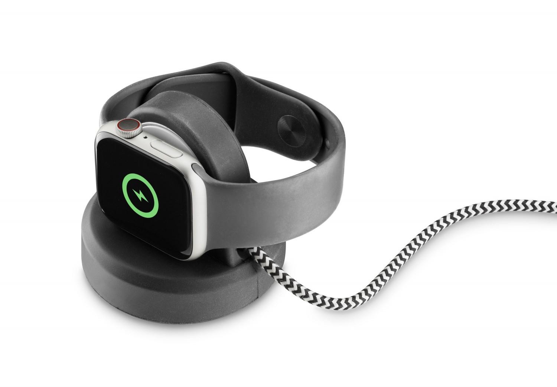 Stojánek s bezdrátovým nabíjením Cellularline Power Dock pro Apple Watch