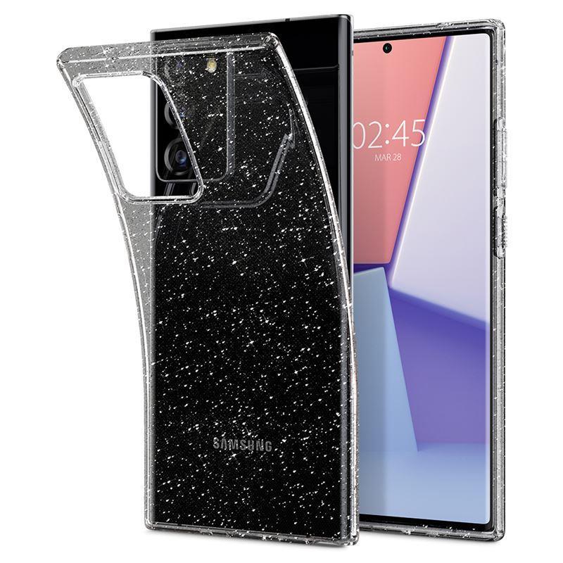 Ochranný kryt Spigen Liquid Crystal Glitter pro Samsung Galaxy Note20 plus, transparentní