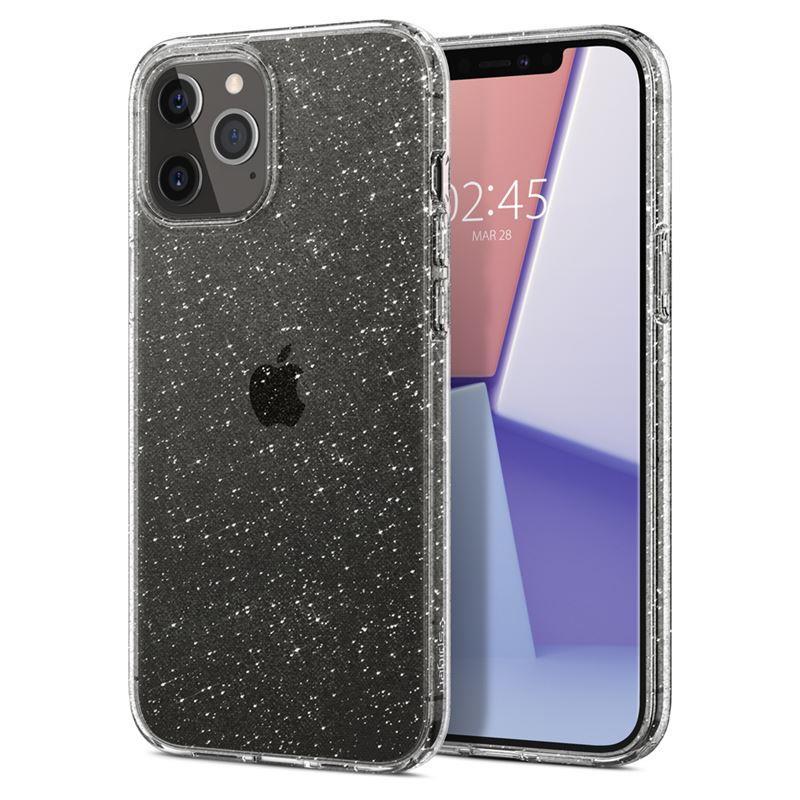 Ochranný kryt Spigen Liquid Crystal Glitter pro Apple iPhone 12 Pro Max, transparentní