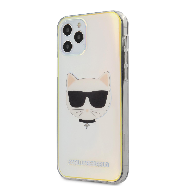 Karl Lagerfeld Choupette Head kryt KLHCP12LCIR Apple iPhone 12 Pro Max iridescent