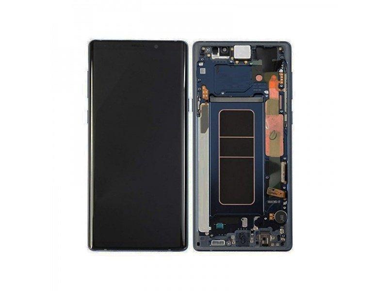 LCD + dotyk + rámeček pro Samsung Galaxy Note 9, blue ( Service Pack )