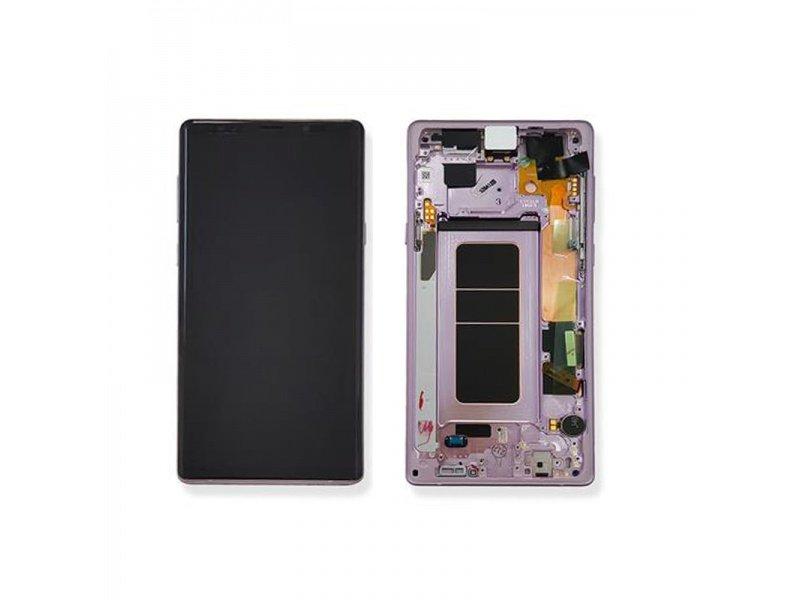 LCD + dotyk + rámeček pro Samsung Galaxy Note 9, lavener purple ( Service Pack )
