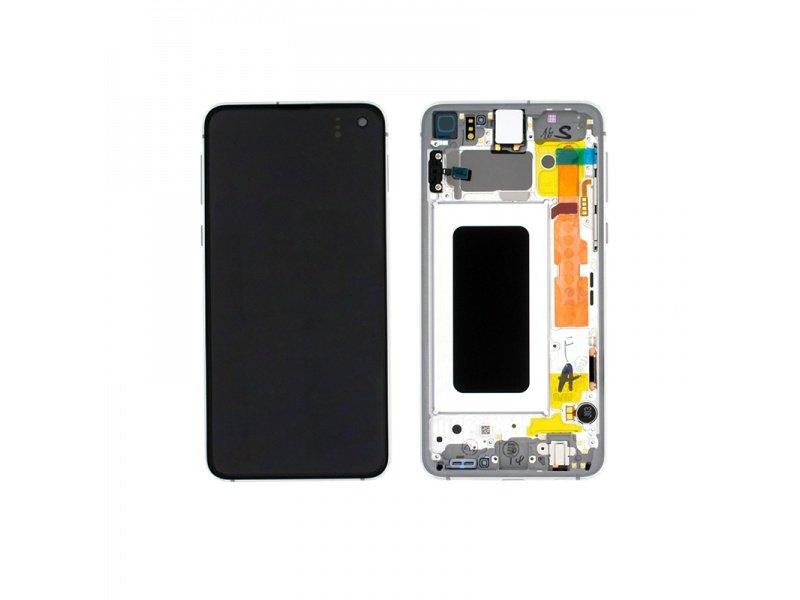 LCD + dotyk + rámeček pro Samsung Galaxy S10e, white ( Service Pack )