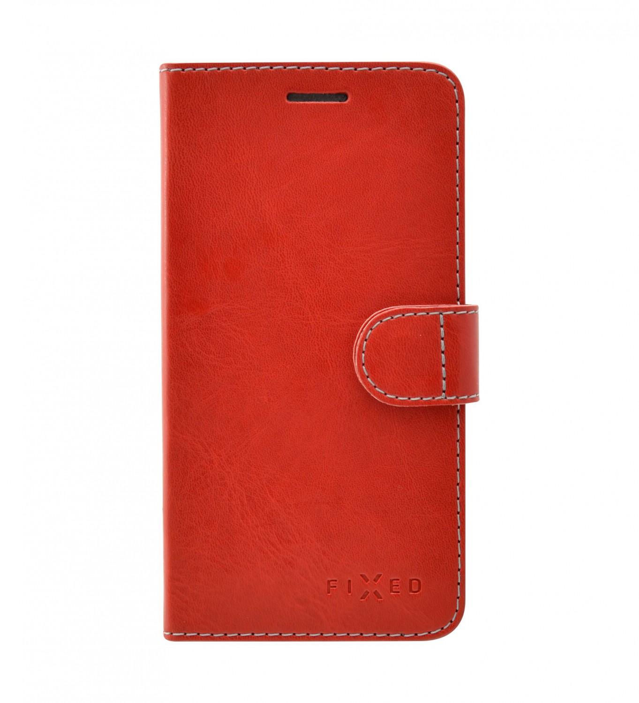 FIXED FIT flipové pouzdro, obal, kryt pro Apple iPhone 12 mini red