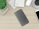 FIXED FIT Shine flipové pouzdro, obal, kryt Apple iPhone 12/12 Pro antracit