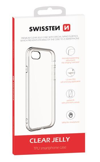 Silikonové pouzdro Swissten Clear Jelly pro Apple iPhone 12/12 Pro, transparentní