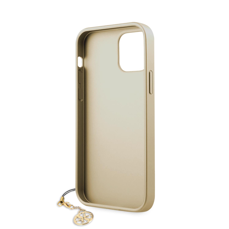 Guess 4G Charms zadní kryt GUHCP12SGF4GGR Apple iPhone 12 mini grey