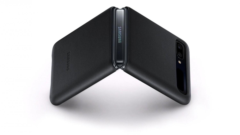 Samsung Leather Cover EF-VF700LBEGEU Samsung Galaxy Z Flip black