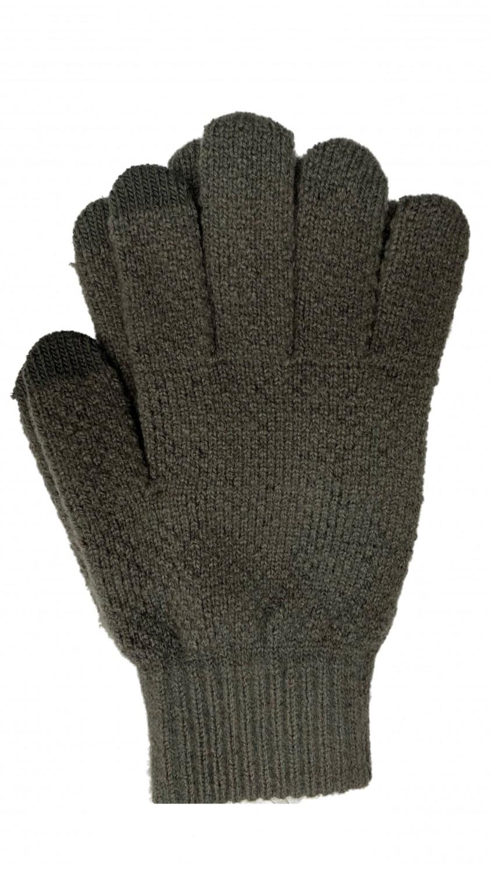 Pánkské rukavice na dotykový displej, šedá