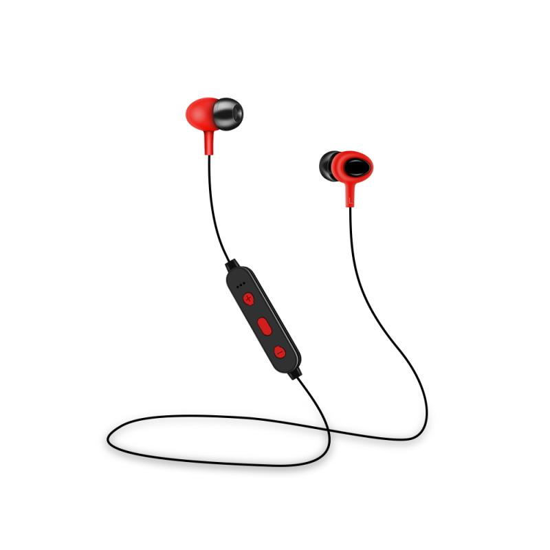 Bezdrátová Bluetooth sluchátka Setty Sport, červená
