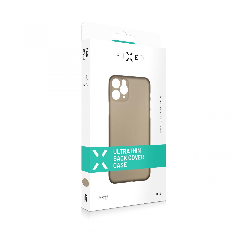 FIXED Peel Ultratenký kryt, pouzdro, obal Apple iPhone 12/12 Pro kouřový