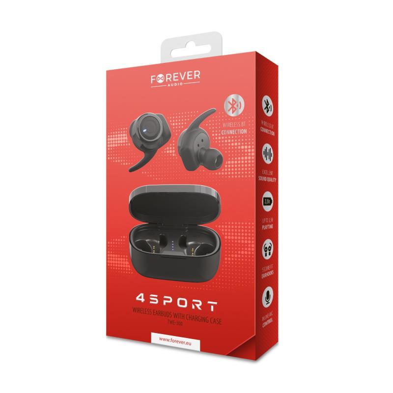Bluetooth sluchátka Forever 4Sport TWE-300 černá