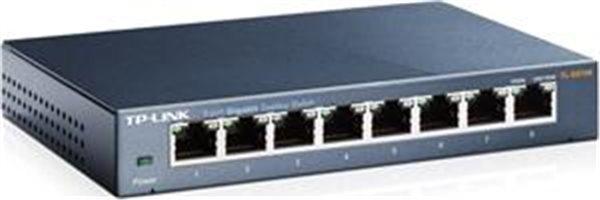 TP-Link TL-SG108 switch 8x 10/100/1000Mbps, kovový