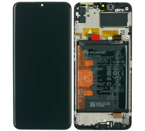 LCD + dotyk + přední kryt + baterie pro Huawei Y6p/Honor 9A, black (Service Pack)