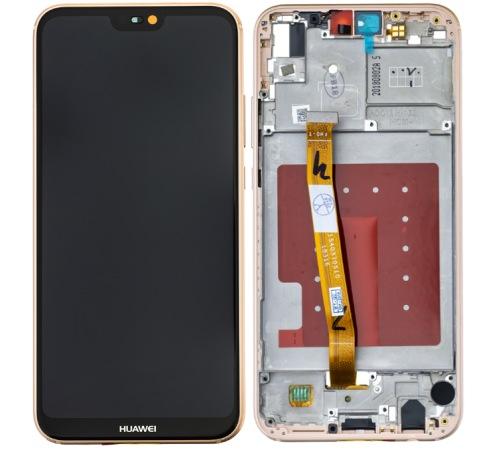LCD + dotyk + rámeček pro Huawei P20 Lite, pink