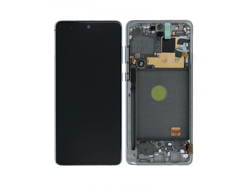 LCD + dotyk + rámeček pro Samsung Galaxy Note 10 Lite, silver (Service Pack)