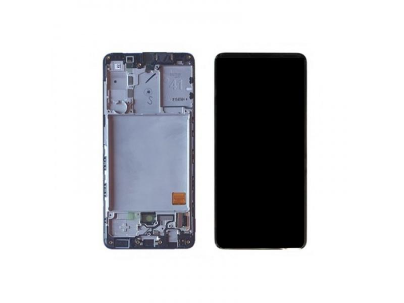 LCD + dotyk + rámeček pro Samsung Galaxy A41, black (Service Pack)