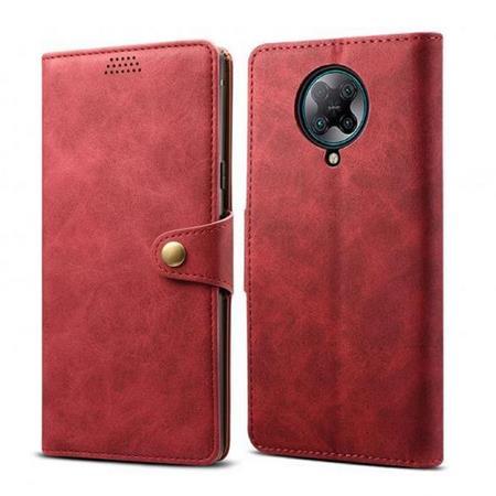 Lenuo Leather flipové pouzdro na Xiaomi Poco X3 red