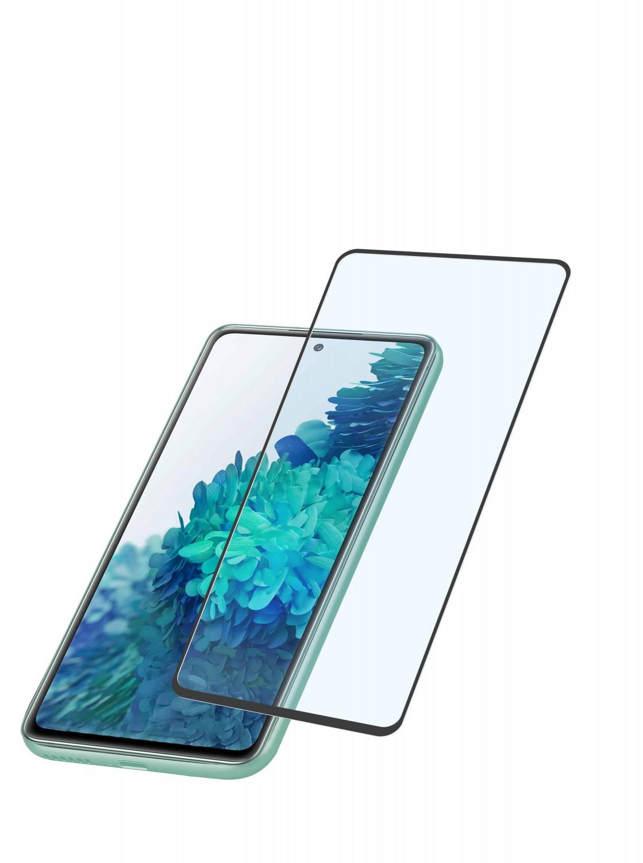 Tvrzené sklo Cellularline Capsule pro Samsung Galaxy S20 FE black
