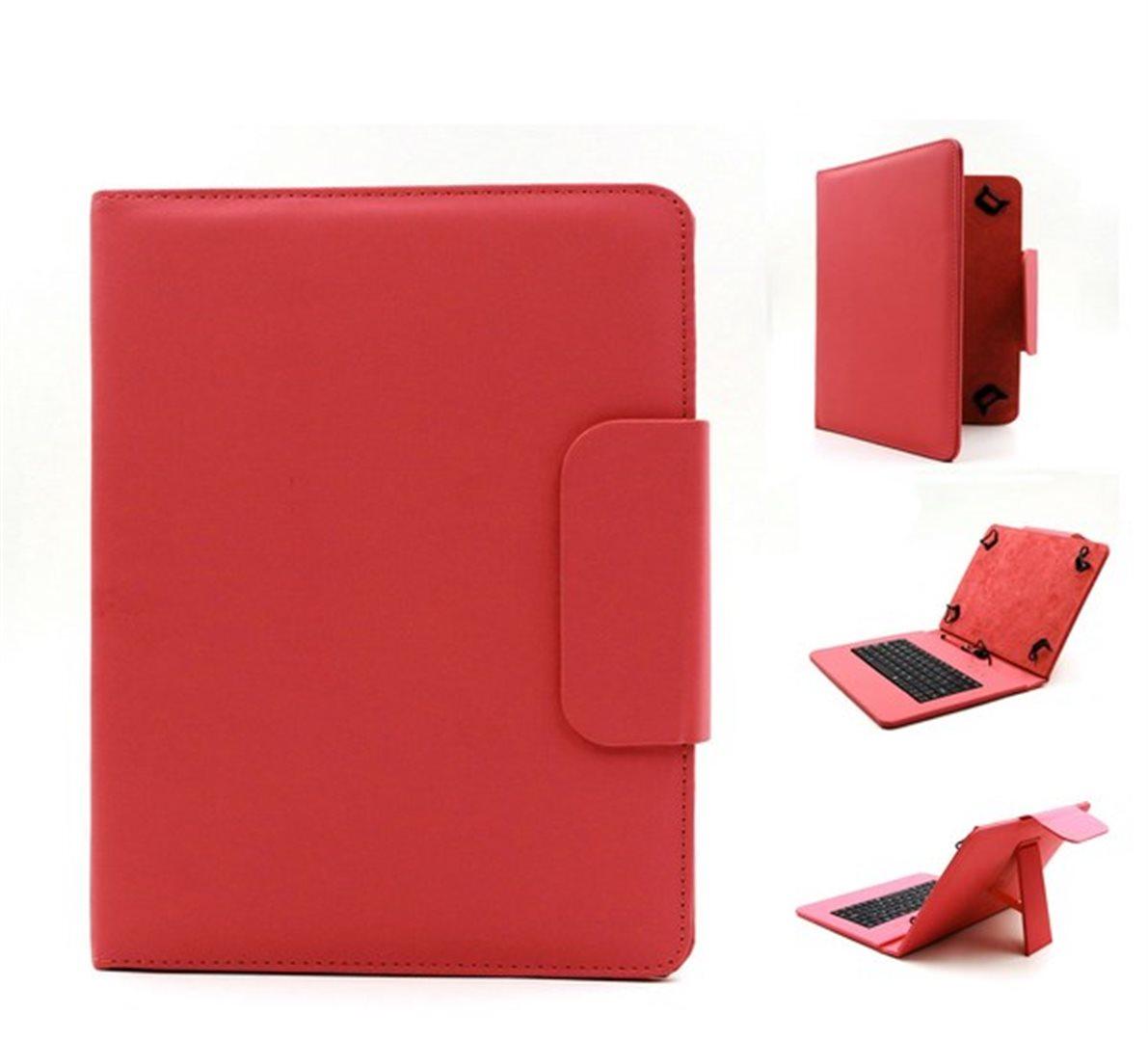 """C-TECH univerzální pouzdro s klávesnicí pro 8"""" tablety red"""