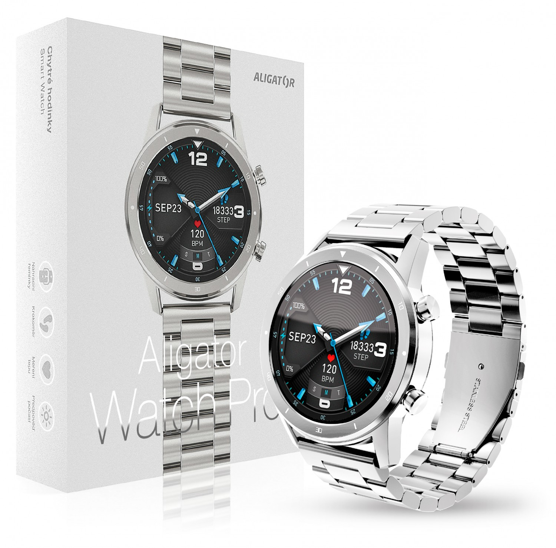 Aligator Watch Pro stříbrná
