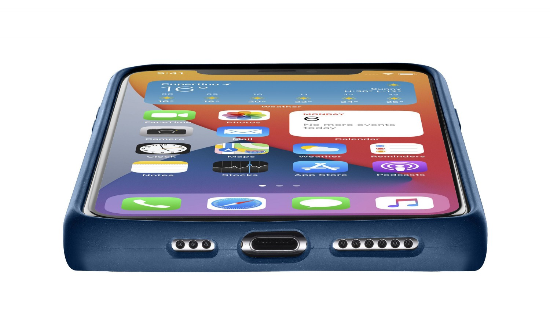 Cellularline Sensation silikonový kryt, pouzdro, obal Apple iPhone 12 mini blue