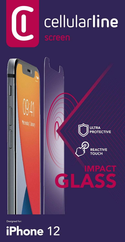 Tvrzené sklo Cellularline Second Glass Ultra Apple iPhone 12 mini