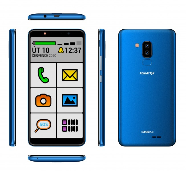 Aligator S6000 Senior Duo 1GB/16GB modrá