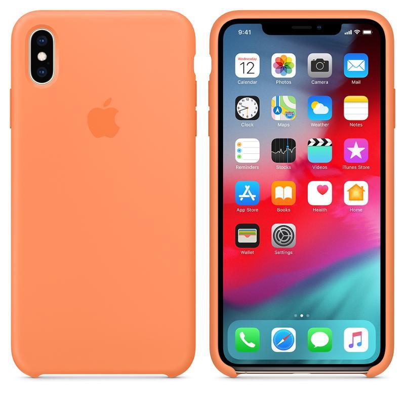 Originální silikonový kryt, pouzdro, obal MVF72ZM/A Apple iPhone XS Max papaya