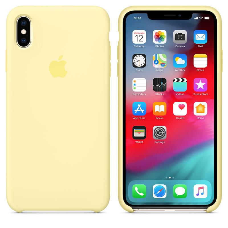 Originální silikonový kryt, pouzdro, obal MUJR2ZM/A Apple iPhone XS Max mellow yellow
