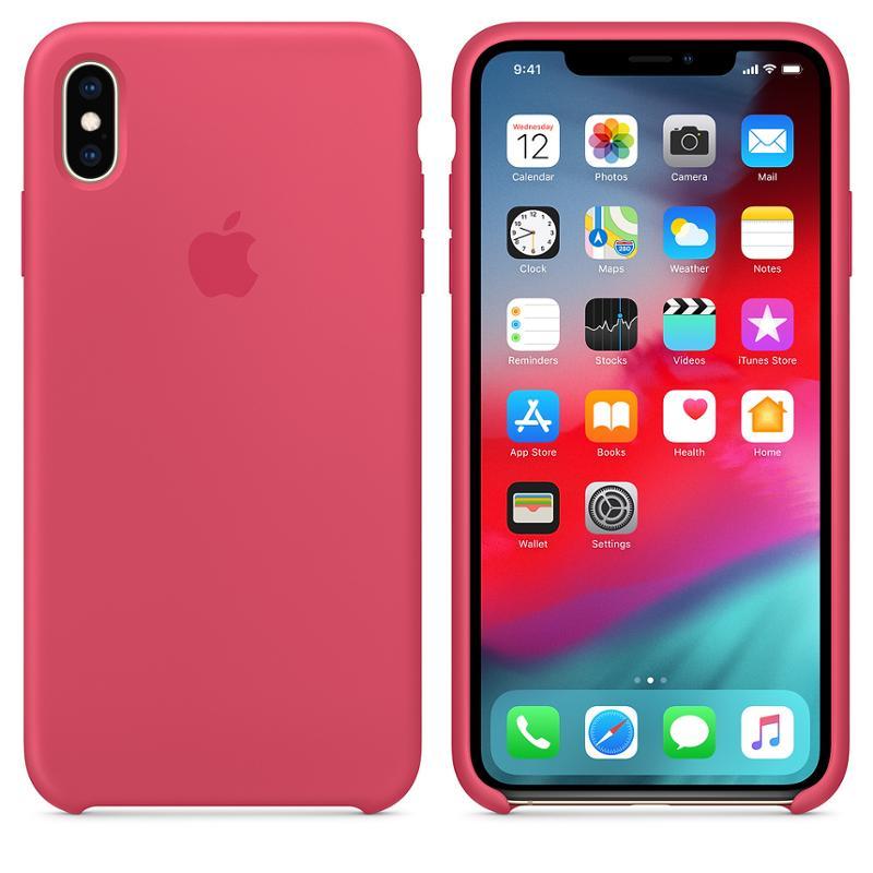 Originální silikonový kryt, pouzdro, obal MUJP2ZM/A Apple iPhone XS Max hibiscus