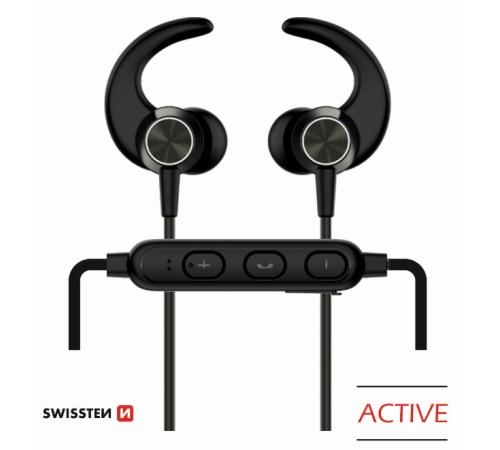 Sluchátka Bluetooth SWISSTEN ACTIVE black