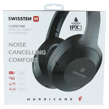 Sluchátka Bluetooth stereo SWISSTEN HURRICANE black