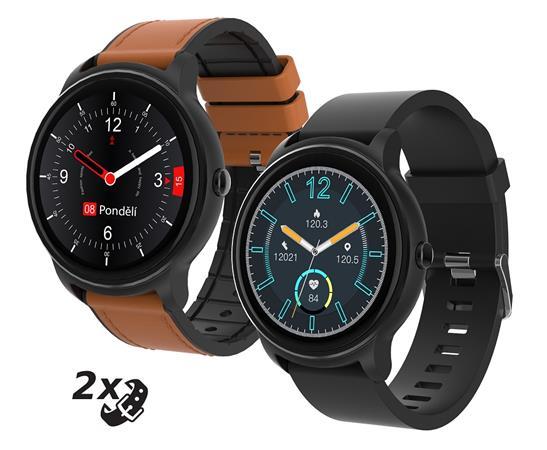 Chytré hodinky iGET FIT F60, černá