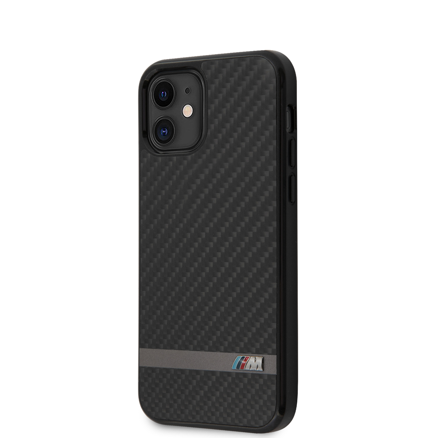 BMW Carbon & Alu zadní kryt BMHCP12SASCFBK Apple iPhone 12 mini black