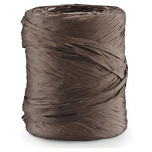 Dárkové stužky s efektem lýka, čokoládová.