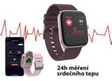 Chytré hodinky iGET FIT F25, růžová
