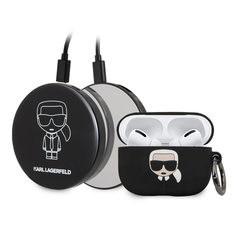 Karl Lagerfeld Bundle Iconic KLBPPBOAPK pouzdro + power bank Apple Airpods Pro