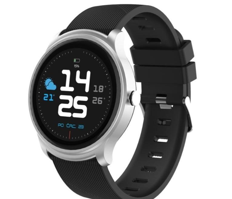 Chytré hodinky iGET FIT F6, stříbrná