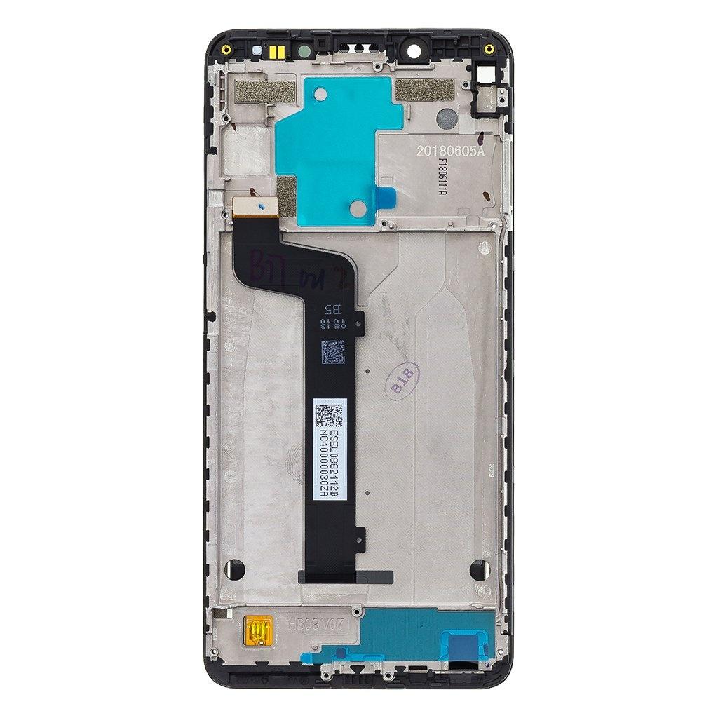 LCD + dotyk + přední  kryt pro Xiaomi Redmi Note 8, blak (Service Pack)