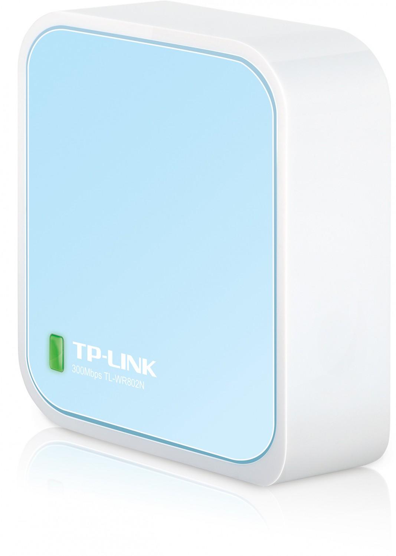 TP-Link TL-WR802N N300 Nano Router/AP/extender/Client/Hotspot,1xRJ45, 1x Micro USB