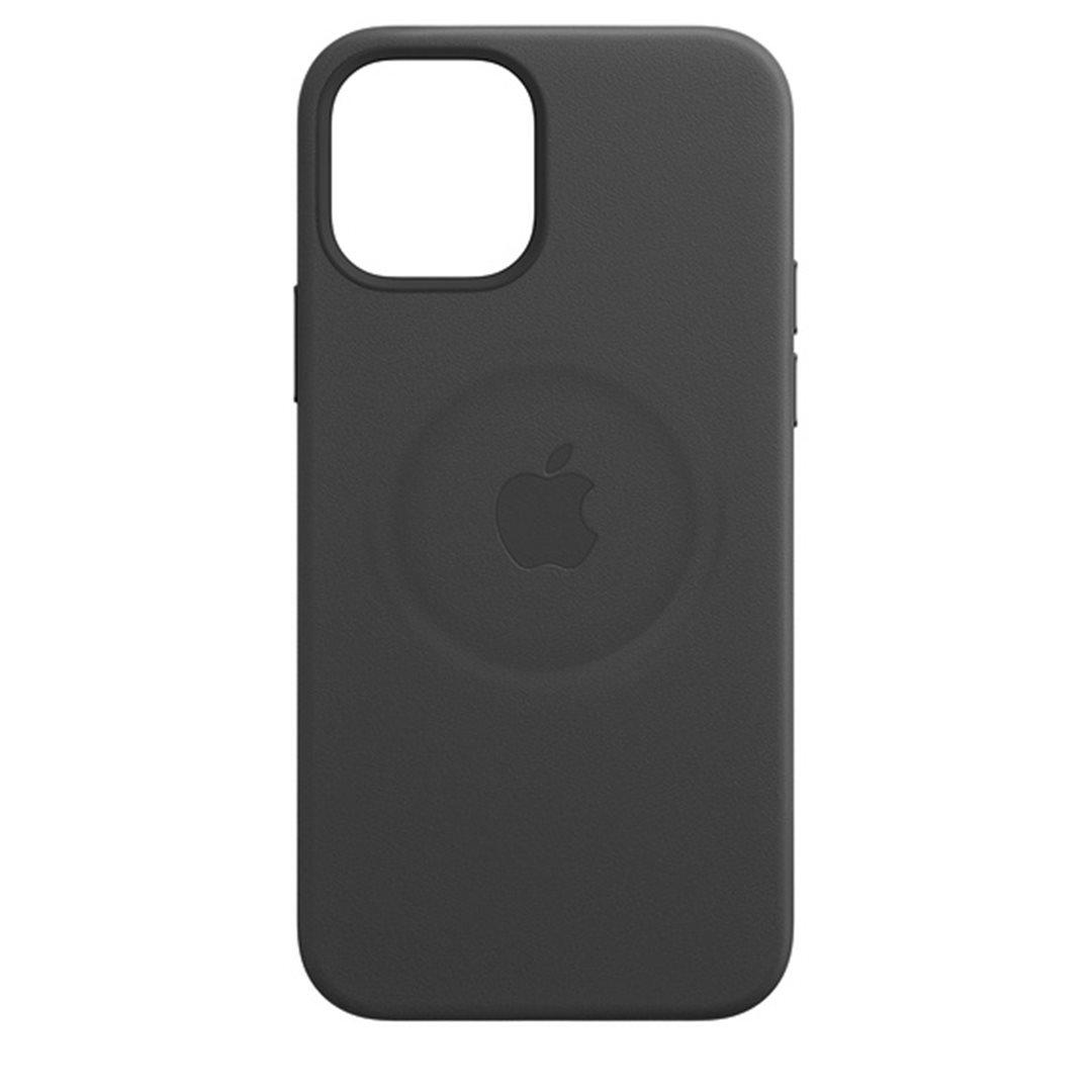 Apple kožený kryt s MagSafe Apple iPhone 12 Pro Max black